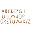 old rope hand drawn alphabet letters from a to t vector image vector image