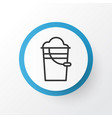 pail icon symbol premium quality isolated bucket vector image vector image
