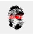 Ray scanner scan fingerprint vector image