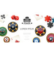 realistic poker colorful concept vector image vector image