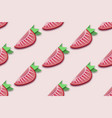 red strawberry seamless pattern in paper cut style vector image