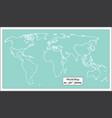 retro world map vector image vector image