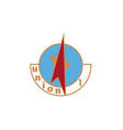 rocket loga star vector image vector image