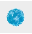 Round blue spot of paint acrylic texture vector image vector image