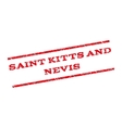 Saint Kitts And Nevis Watermark Stamp vector image