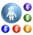 santa claus icons set vector image