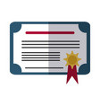 school education success certificate award flat vector image