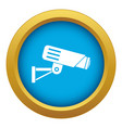 security camera icon blue isolated vector image vector image