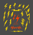 set electric lightning vector image