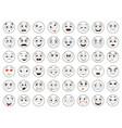 set emoticons emoji cartoon faces set vector image vector image