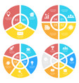 set template for circle diagram options vector image vector image