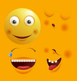 smiley constructor with funny spare faces isolated vector image vector image