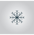 Snowflake flat icon EPS vector image vector image