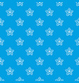 starfish pattern seamless blue vector image vector image
