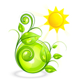 sun and green vegetation vector image