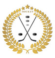 the theme hockey vector image vector image