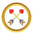 Two arrows LGBT icon vector image vector image