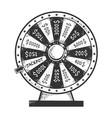 wheel fortune gambling device sketch vector image vector image