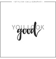 You look good phrase in handmade vector image vector image