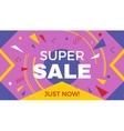 Big super sale horizontal banner vector image