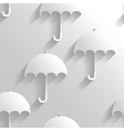 Abstract Seamless Background with Umbrellas vector image vector image