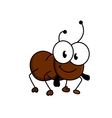 Adorable little brown cartoon ant vector image