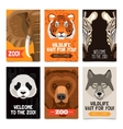 Animals Mini Posters Set vector image vector image