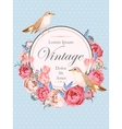 Beautiful vintage card with nightingales vector image vector image