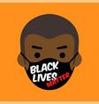 black lives matter cartoon vector image