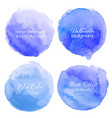 blue watercolor circle set on white background vector image vector image