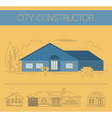 Building exteriors graphic template Outline and vector image vector image