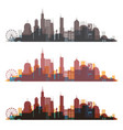 chicago illinois skyline city colorfull silhouette vector image vector image