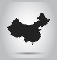 China map flat on white background