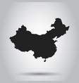 china map flat on white background vector image