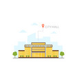 city mall building modern cityscape design vector image