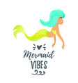 cute mermaid character mermay concept vector image vector image