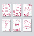 decorative greeting cards for valentine s day vector image vector image