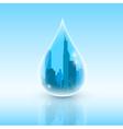 drop of city vector image vector image