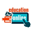 education logo concept vector image