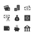 finance black icon vector image vector image