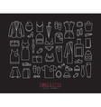 Flat clothes icons black vector image vector image