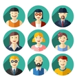 flat round avatar icons faces people icons vector image vector image