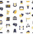 flat theatre icons pattern or background vector image vector image