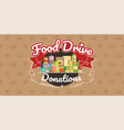 food drive charity movement vector image vector image