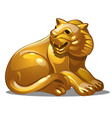 golden figure tiger chinese horoscope symbol vector image vector image