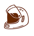 Hand Drawn Bikers Helmet vector image vector image