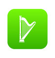 harp icon digital green vector image
