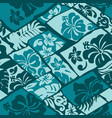 hibiscus flowers hawaii style fabric vector image