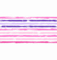 hipster watercolor brush stripes seamless pattern vector image vector image