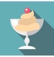 Ice cream icon flat style vector image vector image